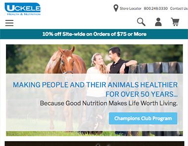 Uckele Magento Site Launch Homepage