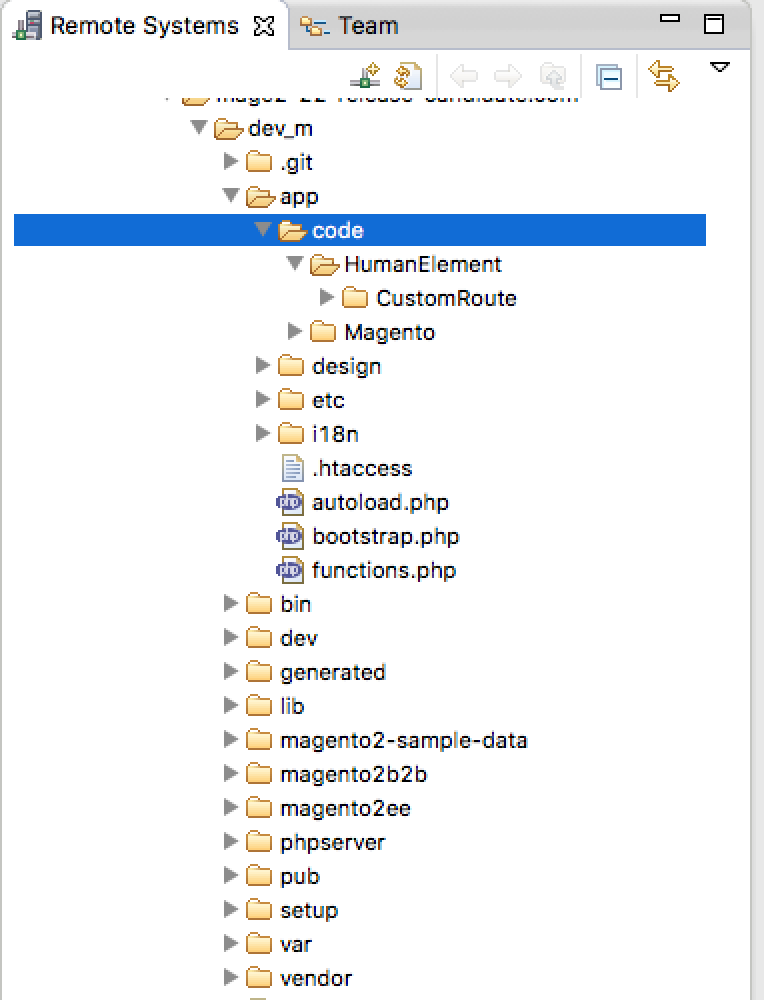 create custom routes - file system view of magento 2 module