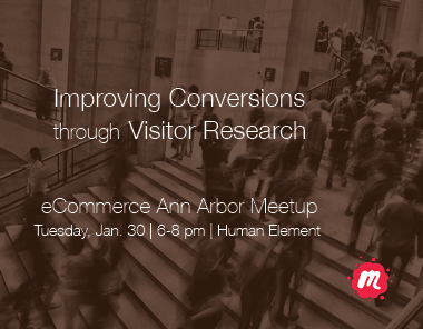 Improving conversions through visitor research meetup