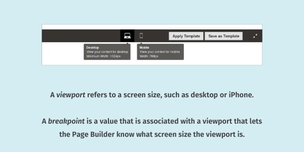 Viewport and breakpoint definitions